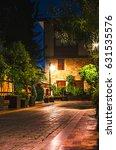 old city street  stone stairway ... | Shutterstock . vector #631535576