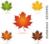 mapel leaf icon vector | Shutterstock .eps vector #63154441