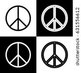 peace sign illustration. vector.... | Shutterstock .eps vector #631556612