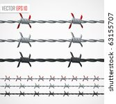 barbed wire. vector | Shutterstock .eps vector #63155707