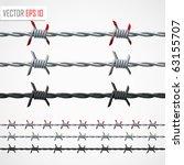 barbed wire. vector | Shutterstock .eps vector #63155707