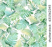 Tropical Leaves Seamless Pattern Monstera - Fine Art prints