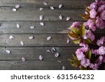 gray wooden background with... | Shutterstock . vector #631564232