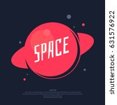 space poster and a template for ... | Shutterstock .eps vector #631576922