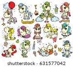 set of cute doodle magic... | Shutterstock .eps vector #631577042