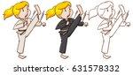 drafting character for girl... | Shutterstock .eps vector #631578332