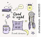 good night color doodle set.... | Shutterstock .eps vector #631580555