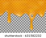 flowing down honey on... | Shutterstock .eps vector #631582232