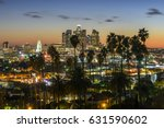 cityscape downtown  los angeles ... | Shutterstock . vector #631590602