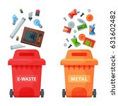 recycling garbage elements... | Shutterstock .eps vector #631602482