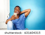 portrait of young african man... | Shutterstock . vector #631604315