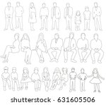 vector  illustration  outlines... | Shutterstock .eps vector #631605506