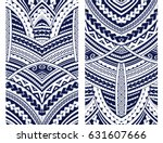 Set of Maori style ornaments. Ethnic themes can be used as body sleeve tattoo or ethnic backdrop. | Shutterstock vector #631607666