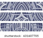 set of maori style ornaments.... | Shutterstock .eps vector #631607705