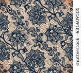 abstract seamless lace pattern...   Shutterstock .eps vector #631609505