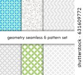 abstract vector pattern set... | Shutterstock .eps vector #631609772