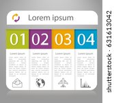 infographics design vector with ... | Shutterstock .eps vector #631613042