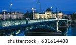 famous bridge and university in ... | Shutterstock . vector #631614488