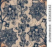 abstract seamless lace pattern...   Shutterstock .eps vector #631616162
