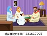 a vector illustration of muslim ... | Shutterstock .eps vector #631617008