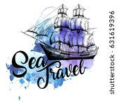 """pirate ship with a sign """"sea... 