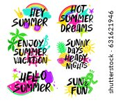 colorful collection of summer... | Shutterstock .eps vector #631621946