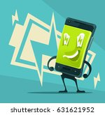 happy smiling smart phone full... | Shutterstock .eps vector #631621952