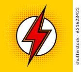 lightning in pop art style.... | Shutterstock .eps vector #631623422