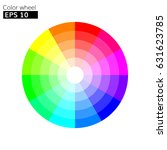 color wheel 12 colors vector... | Shutterstock .eps vector #631623785