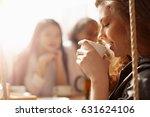 beautiful young girl smiling... | Shutterstock . vector #631624106