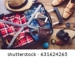 clothing traveler's passport ... | Shutterstock . vector #631624265