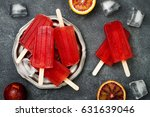 homemade frozen blood orange... | Shutterstock . vector #631639046