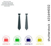 necktie vector icon | Shutterstock .eps vector #631644032