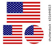 vector illustration of usa flags | Shutterstock .eps vector #631644815
