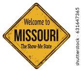 welcome to missouri vintage... | Shutterstock .eps vector #631647365