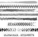motorcycle tire tracks vector... | Shutterstock .eps vector #631648076
