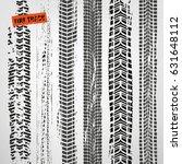 tire tracks vector illustration.... | Shutterstock .eps vector #631648112