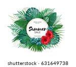 sale. round summer sale... | Shutterstock .eps vector #631649738