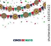 happy cinco de mayo celebration ... | Shutterstock .eps vector #631651622