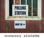 polling station place for... | Shutterstock . vector #631656086