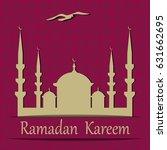 ramadan kareem. cut out of a... | Shutterstock .eps vector #631662695