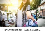 pov view of young female seller ... | Shutterstock . vector #631666052