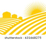 farm abstract landscape. fields ... | Shutterstock .eps vector #631668275