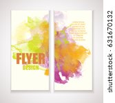 flyer with watercolor effect.... | Shutterstock .eps vector #631670132