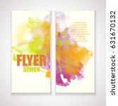 flyer with watercolor effect.... | Shutterstock .eps vector #631670132