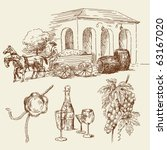 hand drawn wine collection | Shutterstock .eps vector #63167020