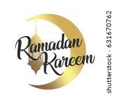 ramadan kareem  eid mubarak... | Shutterstock .eps vector #631670762