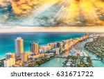 aerial view of miami beach... | Shutterstock . vector #631671722