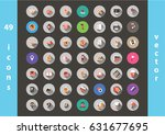 icons  symbols in vector | Shutterstock .eps vector #631677695