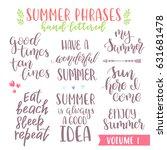 hand written summer lettering... | Shutterstock .eps vector #631681478